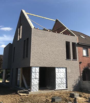 Woning in opbouw